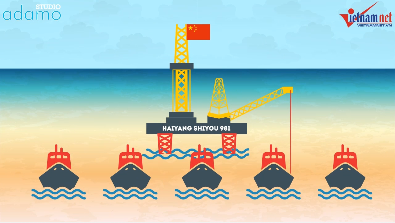 Two months of China's deployment of HD-981 oil rig in Vietnam's waters [Motion Graphic]