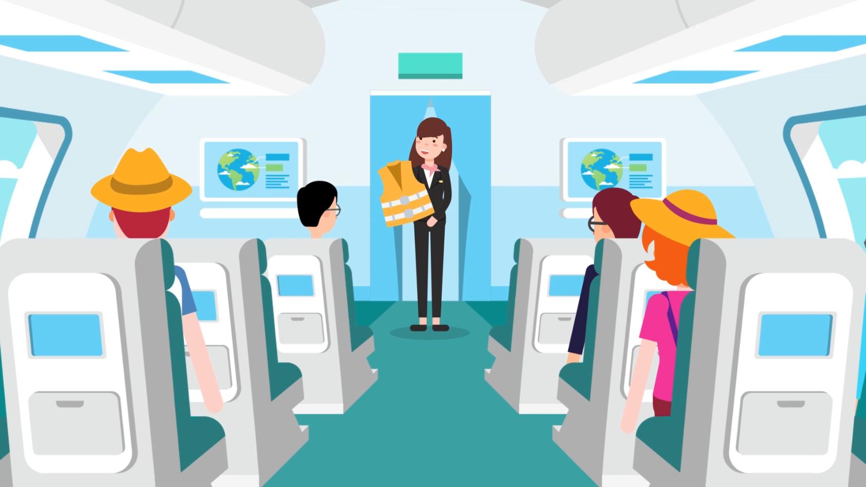 [Motion Graphic] Nghề tiếp viên hàng không
