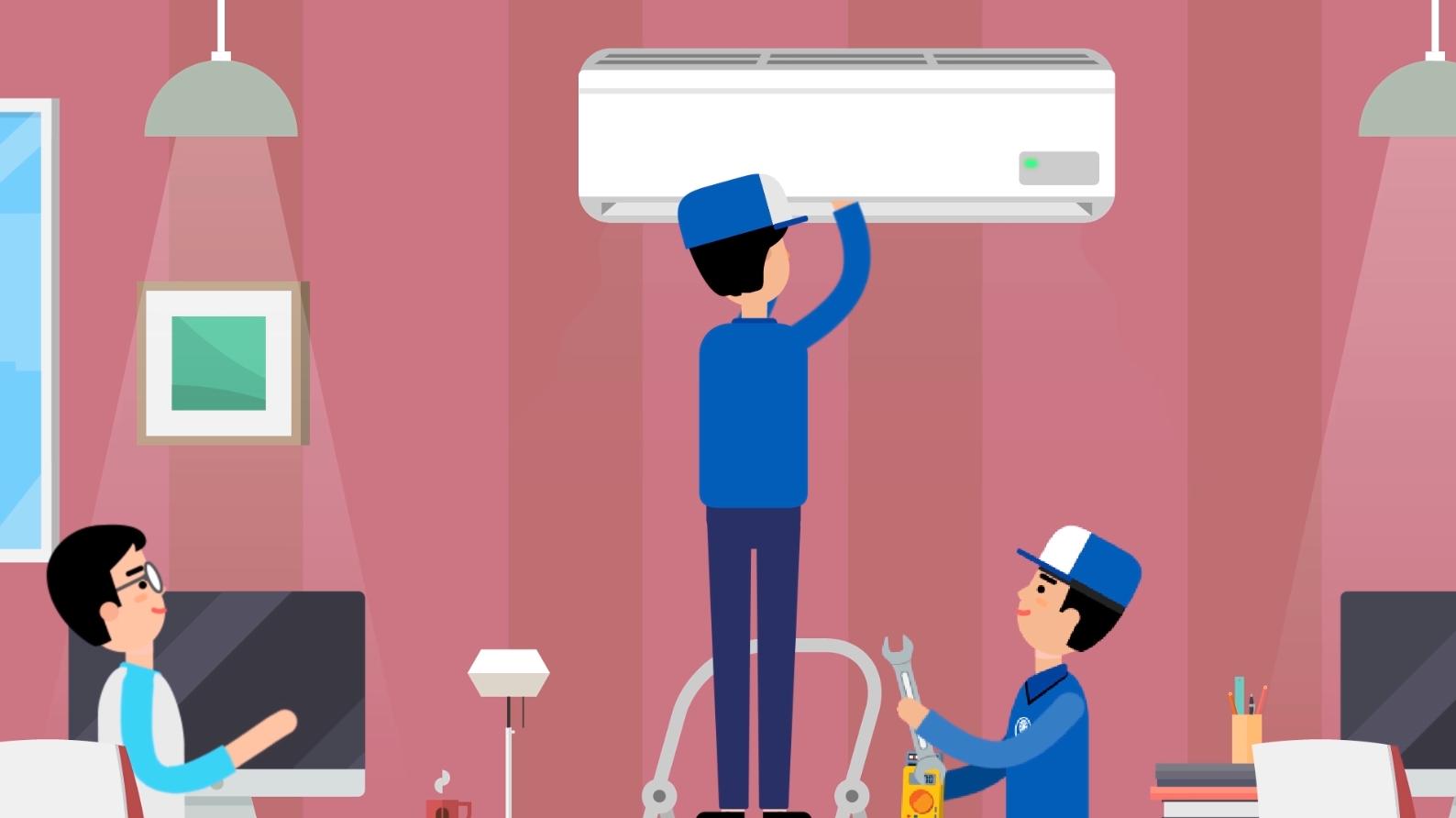 [Motion Graphic] Nghề thợ điện lạnh