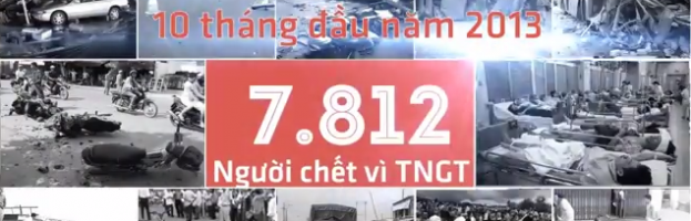 Terrible numbers on Vietnam traffic accident 2013 (Motion Graphic)