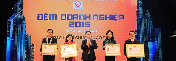 Adamo Studio vinh dự nhận giải thưởng Doanh nghiệp tiêu biểu Hà Nội 2015