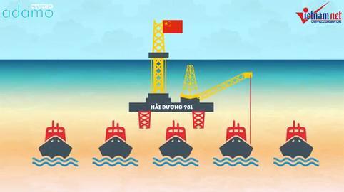 Toàn cảnh 2 tháng Trung Quốc hạ đặt trái phép dàn khoan HD 981 [Motion Graphic]