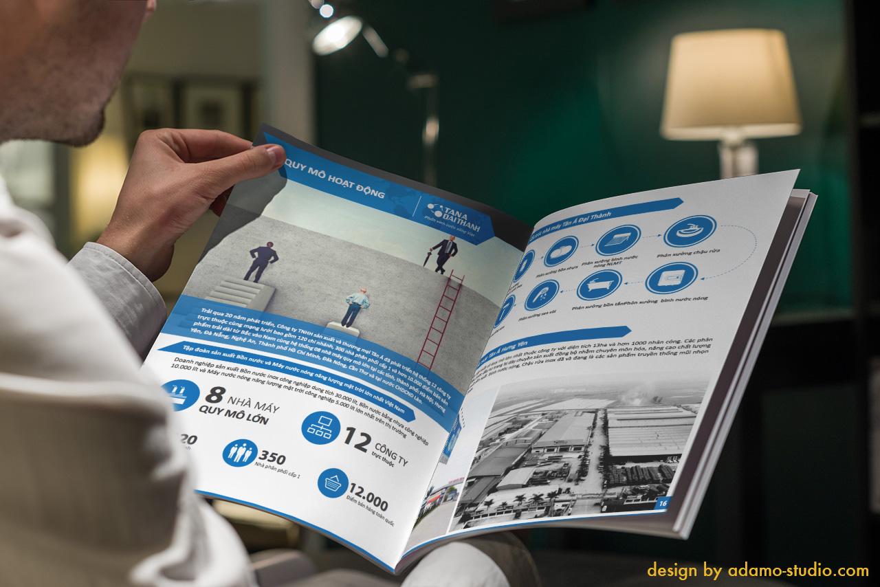 Thiết kế profile Tân Á Đại Thành bằng infographic