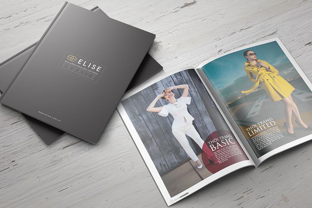 Thiết kế Profile Công ty cổ phần thời trang Elise