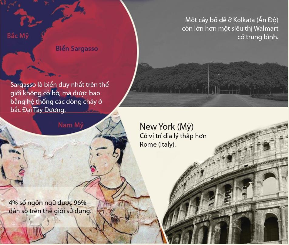 [Infographic] Những sự thật về địa lý thế giới