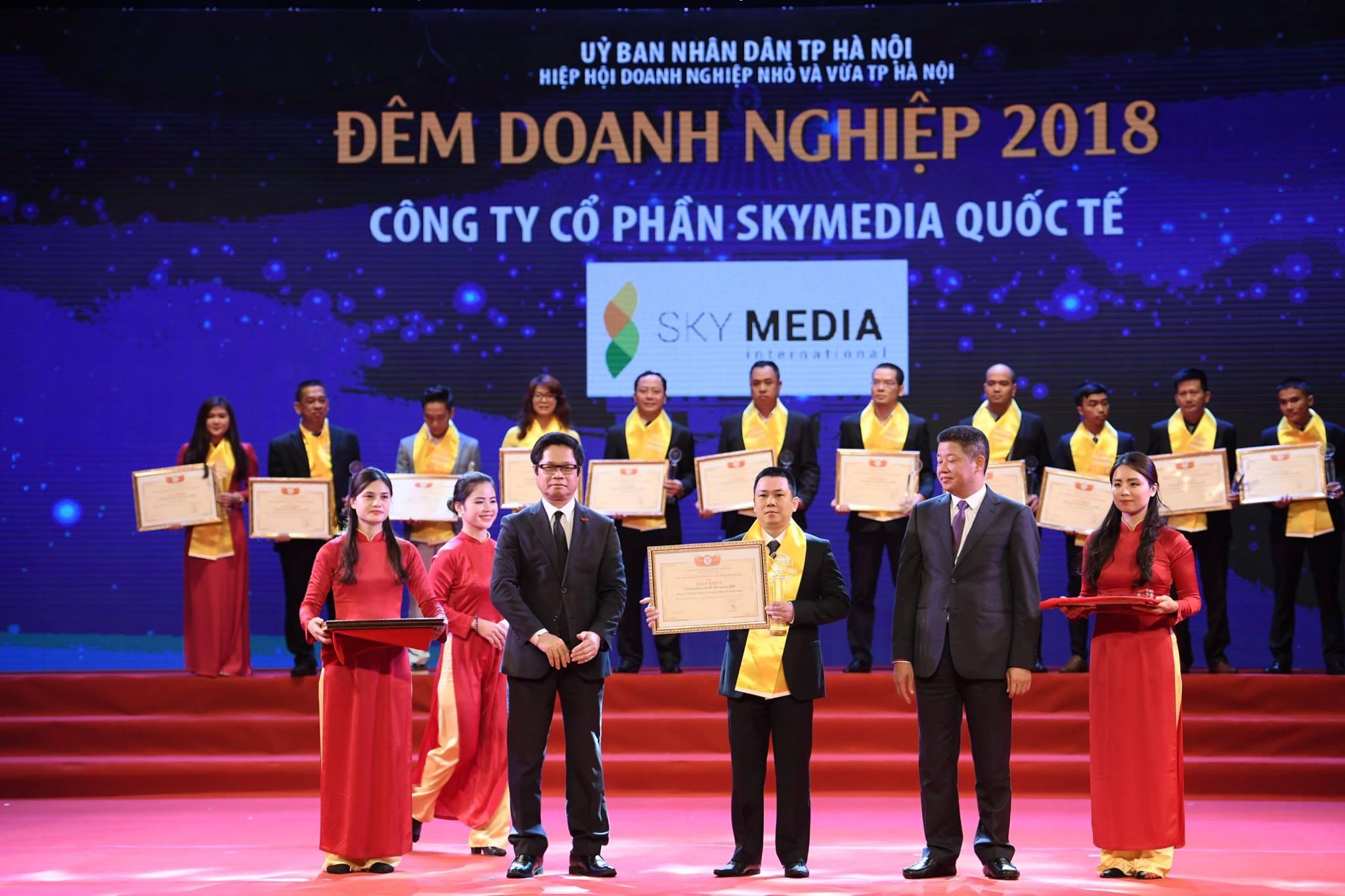 SkyMedia lần thứ 5 liên tiếp được vinh danh tại Đêm doanh nghiệp