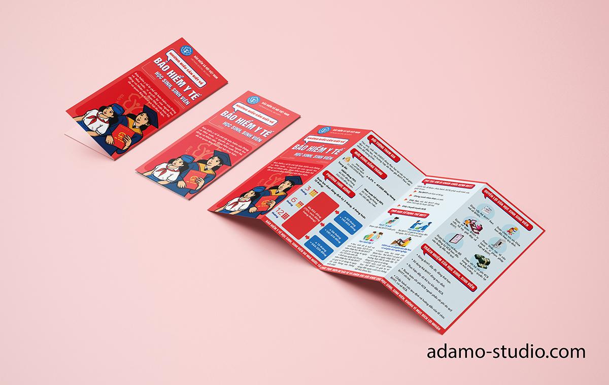 [Infographic] Bộ brochure gấp 4 về các chương trình bảo hiểm